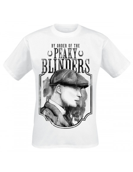 Peaky Blinders Tommy & Fer À Cheval T-shirt blanc