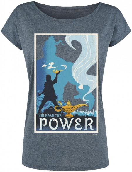 Aladdin Power T-shirt Femme bleu chiné