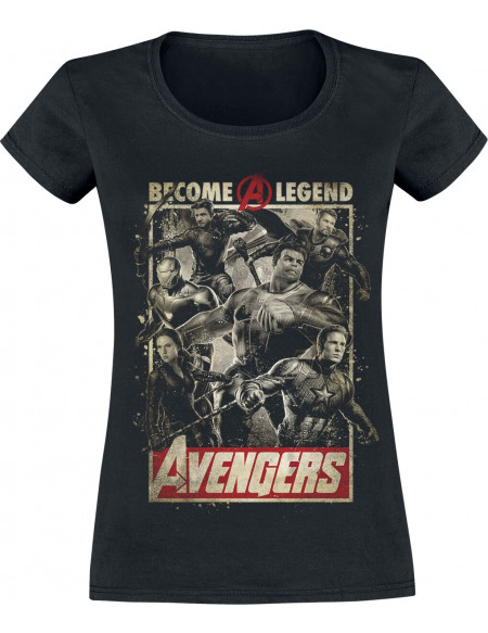 Avengers Endgame - Become A Legend T-shirt Femme noir