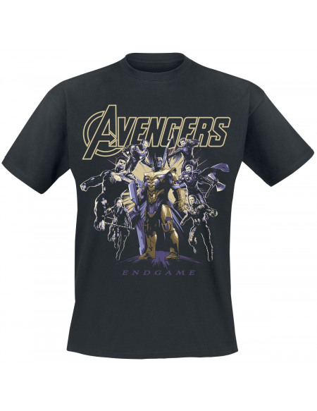 Avengers Endgame - Ready To Fight T-shirt noir
