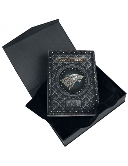 Game Of Thrones Carnet Winter Is Coming Cahier noir