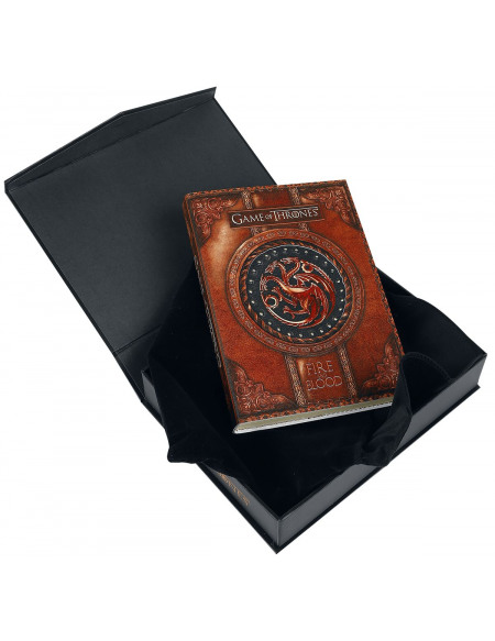 Game Of Thrones Carnet Fire & Blood Cahier rouge