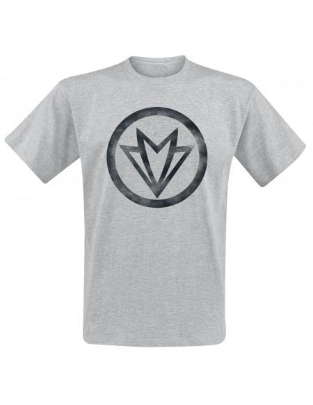 Avengers Symbole Falcon T-shirt gris chiné