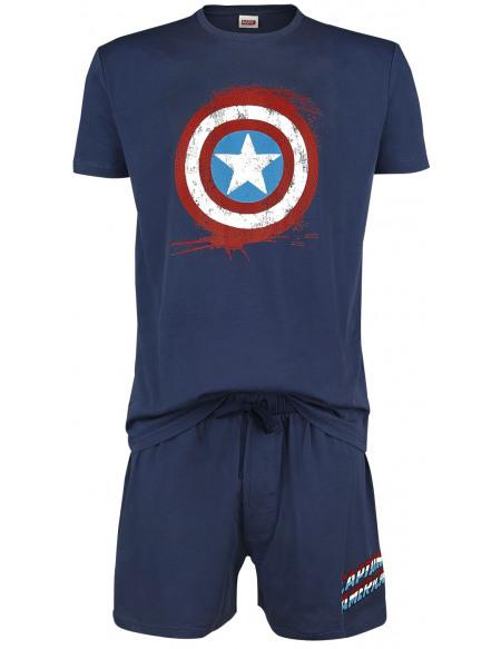 Captain America Bouclier Pyjama marine