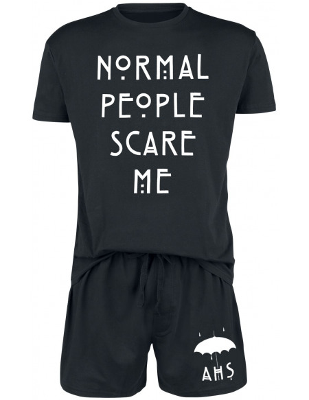 American Horror Story Normal People Scare Me Pyjama noir