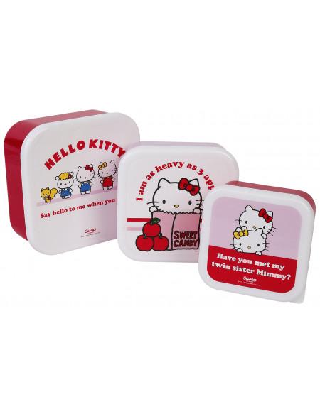 Hello Kitty 3er Set Lunchbox Boîte repas multicolore