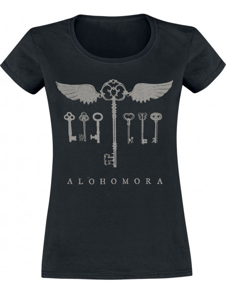 Harry Potter Clés - Alohomora T-shirt Femme noir
