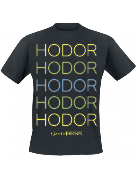 Game Of Thrones Hodor - Neon T-shirt noir