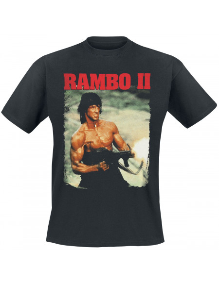 Rambo 2 - John In Action T-shirt noir