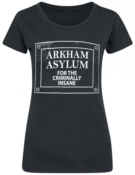 Batman Arkham Asylum T-shirt Femme noir