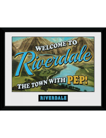 Riverdale Welcome to Riverdale Photo encadrée multicolore