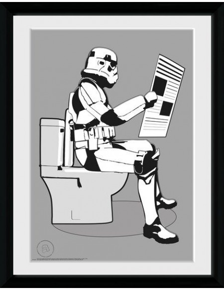 Original Stormtrooper Stormtrooper - Storm Pooper Photo encadrée Standard