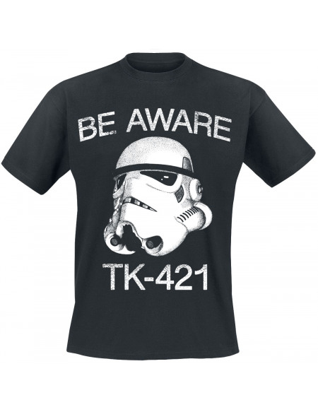 Star Wars Be Aware TK-421 T-shirt noir