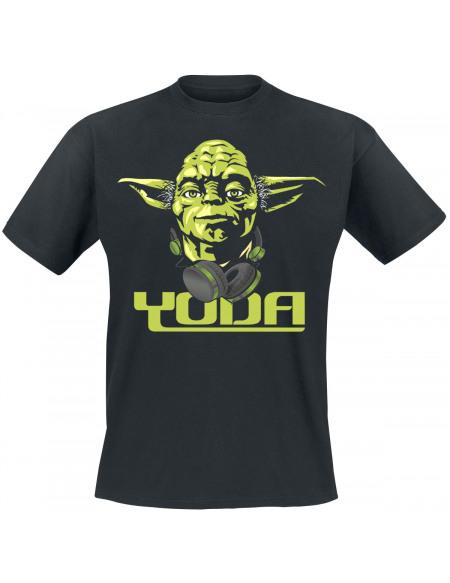 Star Wars Cool Yoda T-shirt noir