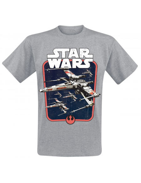 Star Wars Red Squadron T-shirt gris chiné