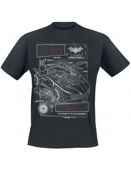 Batman Batmobile T-shirt noir