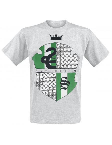 Harry Potter Serpentard T-shirt gris clair chiné