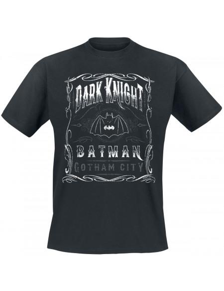 Batman Dark Knight Scroll T-shirt noir