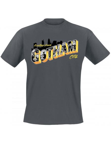 Batman Greetings Gotham T-shirt anthracite