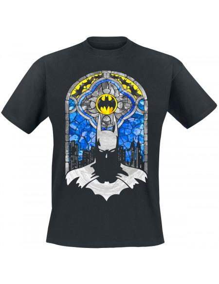 Batman Vitrail T-shirt noir