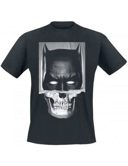 Batman Crâne Déchiré T-shirt noir