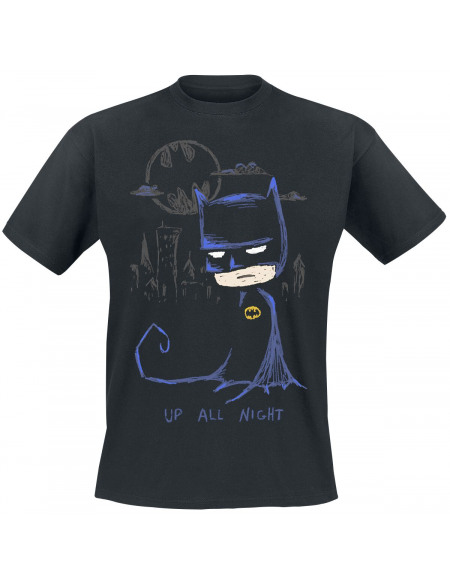 Batman Croquis T-shirt noir
