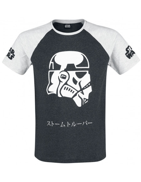 Star Wars Stormtrooper T-shirt gris chiné/noir chiné