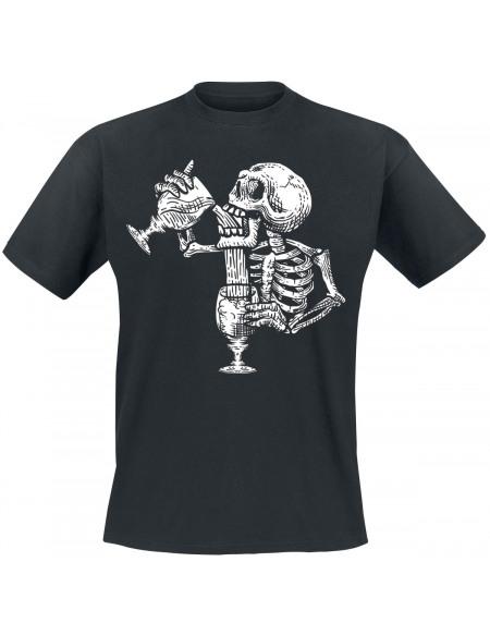 Squelette Assoifé T-shirt noir