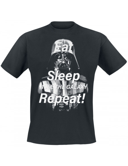 Star Wars Darth Vader - Eat Sleep Repeat T-shirt noir