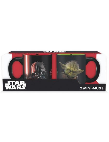 Star Wars Vador Vs. Yoda - Lot De Tasses Expresso Set de Mugs multicolore