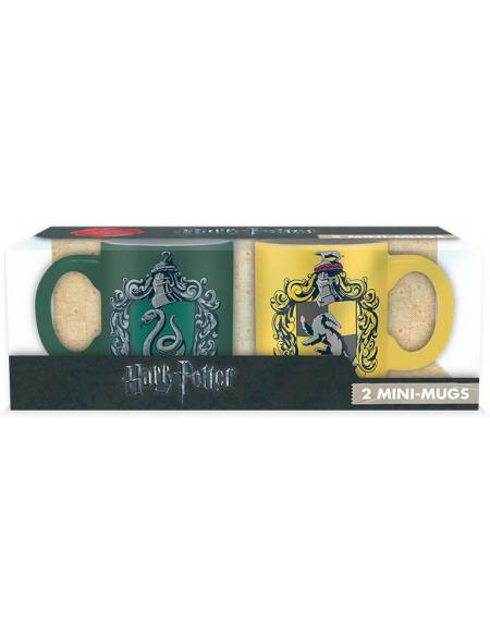Harry Potter Serpentard & Poufsouffle - Lot De Tasses Expresso Set de Mugs multicolore