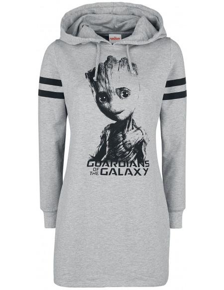 Les Gardiens De La Galaxie Groot Robe gris chiné