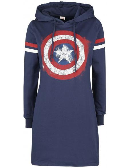 Captain America Logo Robe bleu foncé