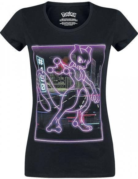 Pokémon Mewtow - Néon T-shirt Femme noir