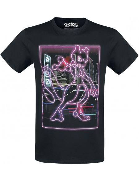 Pokémon Mewtow - Néon T-shirt noir