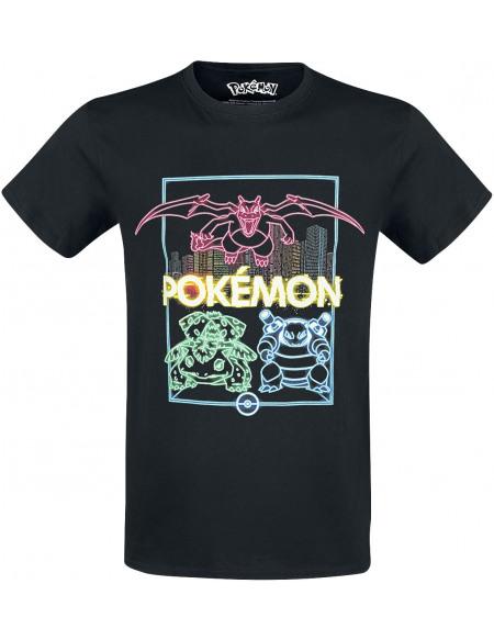 Pokémon Neon Starter T-shirt noir