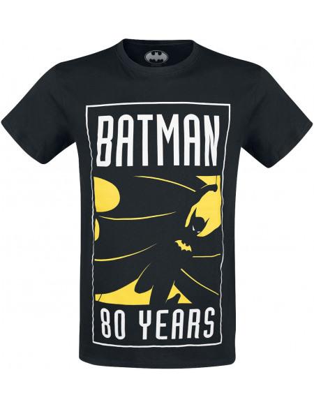 Batman Logo 80 Ans T-shirt noir