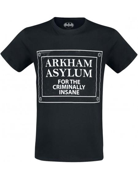 Batman Arkham Asylum T-shirt noir
