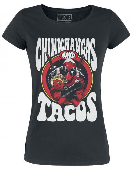 Deadpool Chimichangas & Tacos T-shirt Femme noir