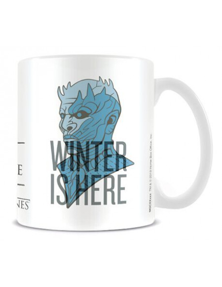 Game Of Thrones Winter is here Mug blanc/bleu clair