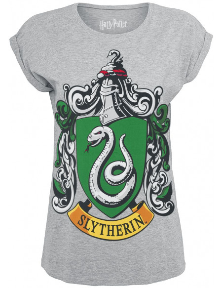 Harry Potter Serpentard - Logo T-shirt Femme gris chiné