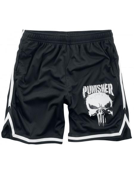 The Punisher Logo Crâne Graffiti Short noir/blanc