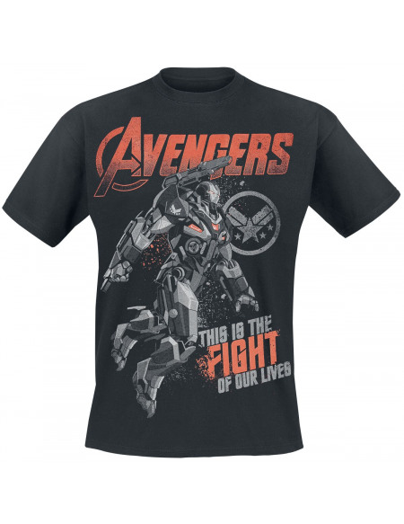 Avengers Endgame - War Machine T-shirt noir