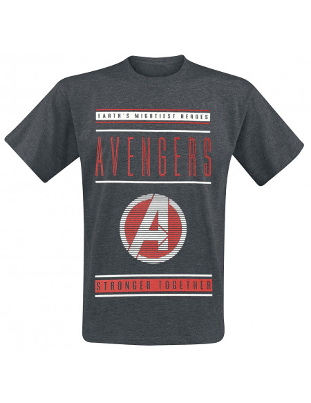 Avengers Avengers - Earth's Mightiest Heroes T-shirt gris sombre chiné