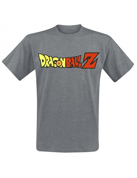 Dragon Ball Z Logo T-shirt gris sombre chiné