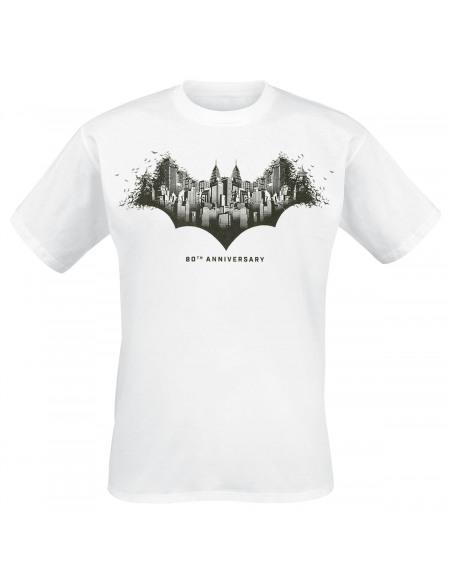 Batman 80th Anniversary - Gotham City T-shirt blanc