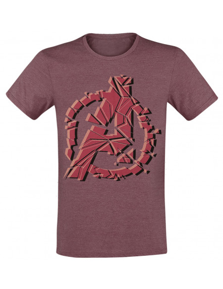 Avengers Logo T-shirt bordeaux chiné