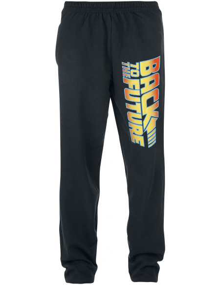 Retour Vers Le Futur Logo Pantalon de Jogging noir