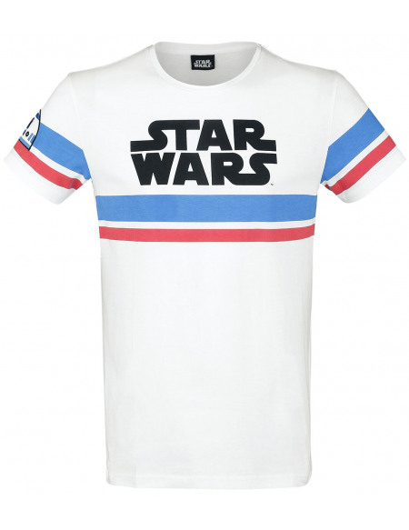 Star Wars Logo - R2D2 T-shirt blanc