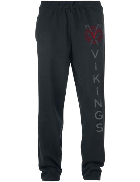 Vikings Axe & Raven Pantalon de Jogging noir